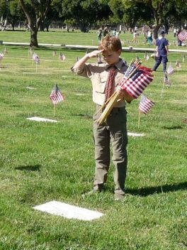 Memorial_Day _Hero _saluted_by_a_scout