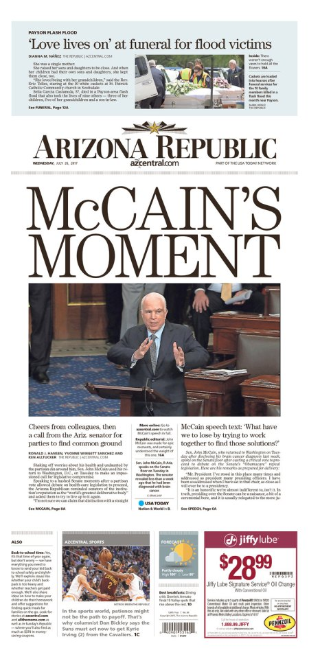 McCain curses conservatives from US Senate chamber