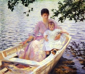 Mother-And-Child-In-A-Boat,-1892